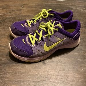 Nike flex supreme Tr 2 purple/yellow shoes